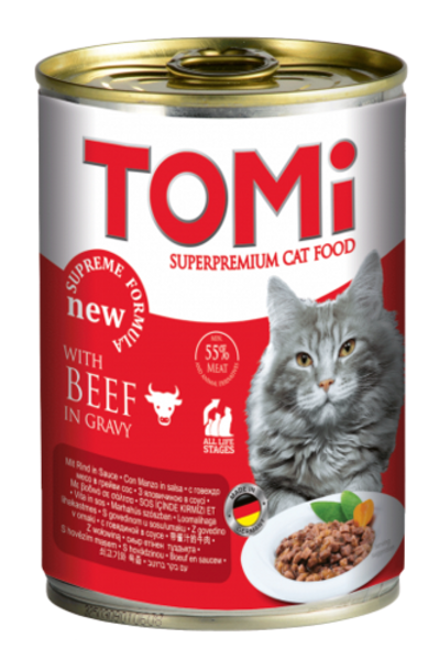 מבצע 3 יח' טומי שימור לחתול בטעם בקר 400 גרם