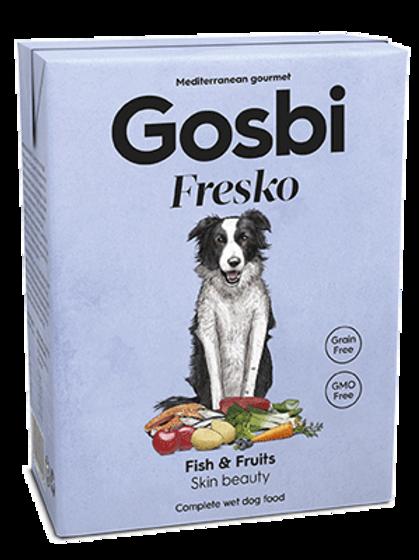 גוסבי מזון רטוב מלא לכלבים בוגרים בטעם דגים