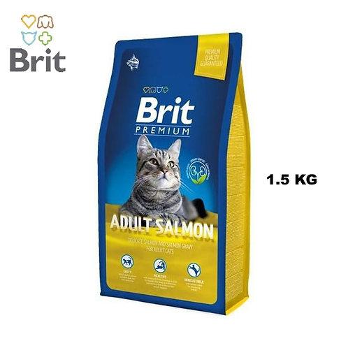 """בריט 1.5 ק""""ג סלמון לחתולים בוגרים"""
