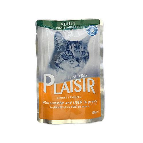 בפלז'יר מזון מלא רטוב לחתולים בוגרים בטעם עוף וכבד