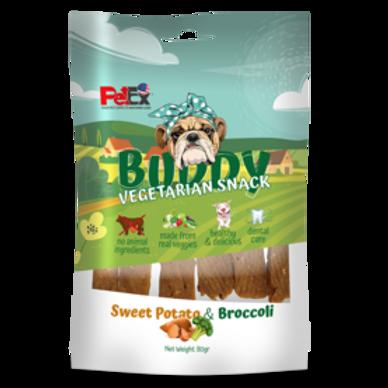 באדי חטיף טבעוני לכלבים בטעם בטטה וברוקולי