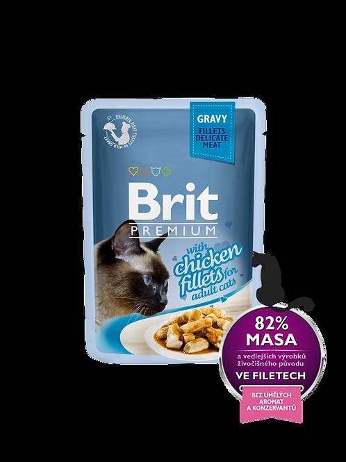 בריט מזון רטוב לחתולים בטעם עוף