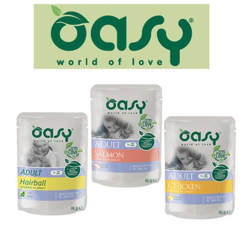 אואסי מזון רטוב מלא לחתולים - פאוץ' במבחר טעמים