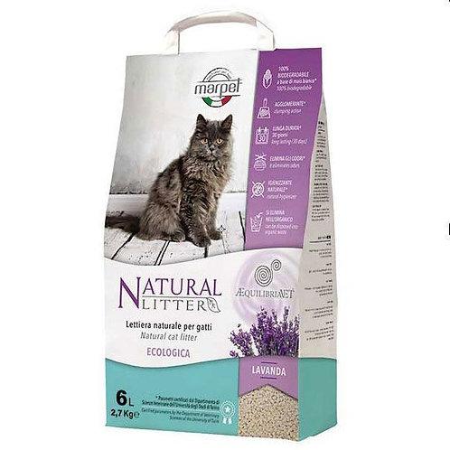 חול טבעי לחתולים מתירס בריח לוונדר
