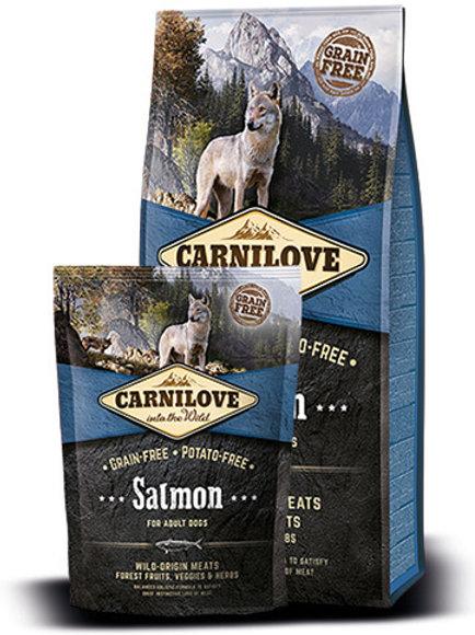 """קרנילאב סלמון לכלבים בוגרים 1.5 ק""""ג"""