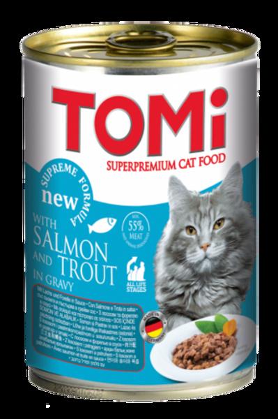 טומי שימור לחתול בטעם סלמון ופורל 400 גרם