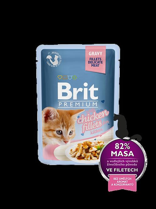 בריט מזון רטוב לגורי חתולים בטעם עוף