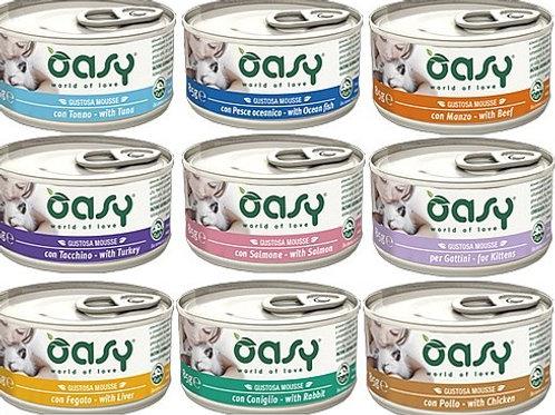 אואסי מזון רטוב מלא לחתולים - מוס במבחר טעמים