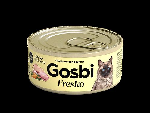 גוסבי פרסקו לחתולים מבוגרים דגים ותערובת בשרים
