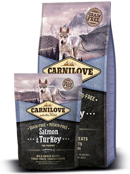 """קרנילאב סלמון והודו לגורי כלבים 1.5 ק""""ג"""