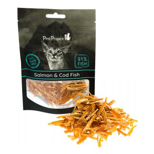 חטיף רך לחתולים בטעם סלמון ודג קוד