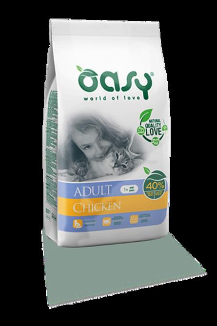 """אואסי מזון יבש לחתולים בוגרים 1.5 ק""""ג - עוף"""