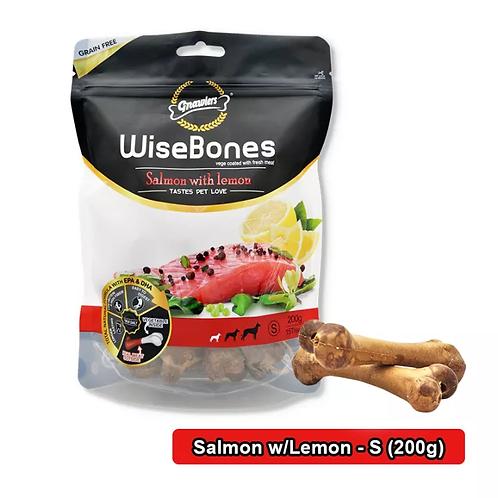 עצם לכלבים ללא דגנים - סלמון ולימון 200 גרם
