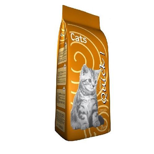 """קוויק 20 ק""""ג מזון לחתולים"""