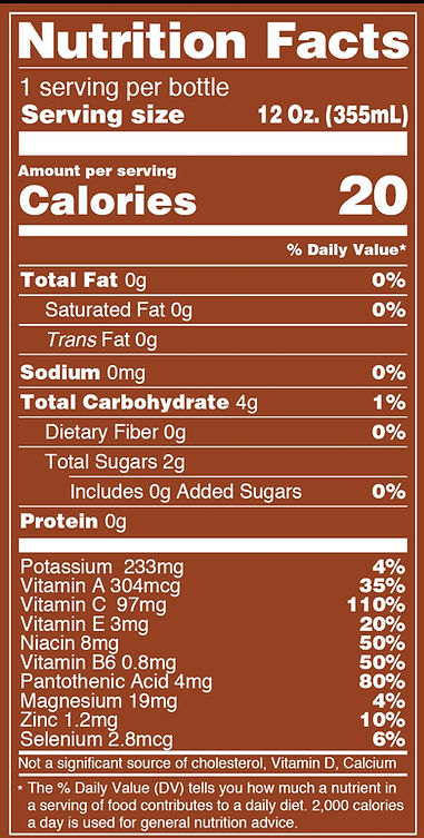Nutritional Panel: Live Fit