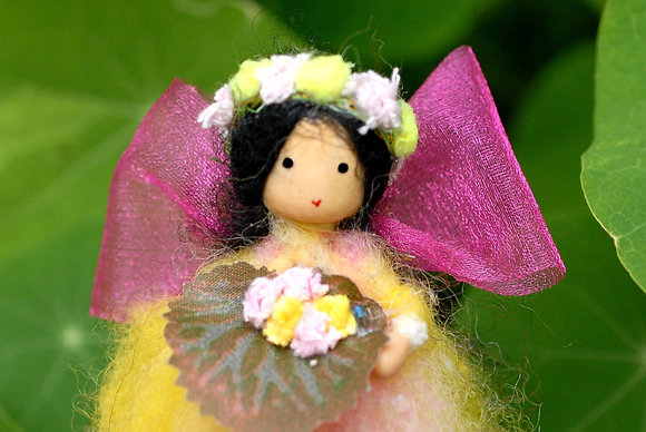 Yellow Flower Fairy with Flower Crown