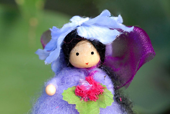 Lavender Flower Fairy with Flower Hat