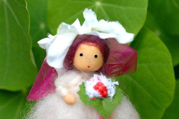 White Flower Fairy with Hat