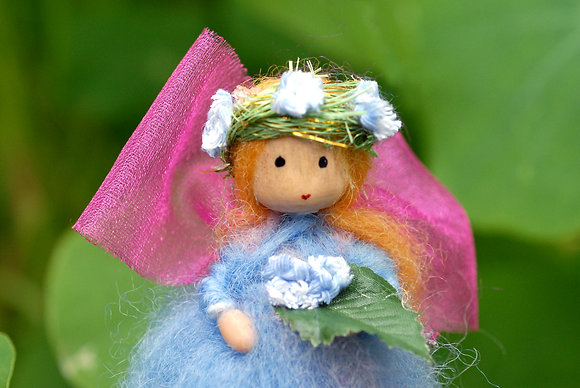 Blue Flower Fairy with Flower Crown