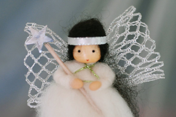 Silver Angel with Star Wand