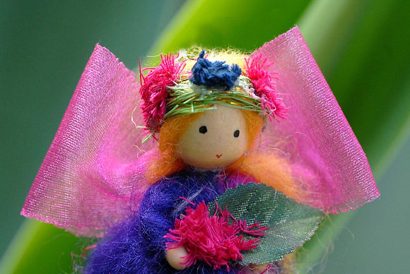 Violet Flower Fairy with Flower Crown