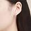 Thumbnail: Sterling silver huggie earring