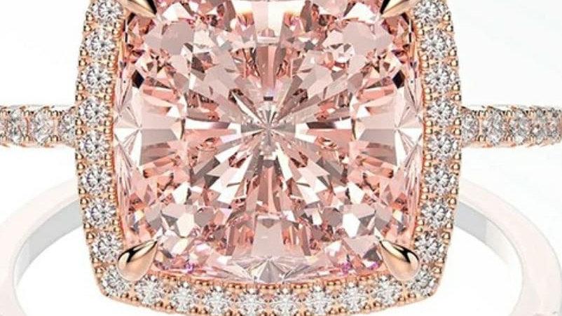 Luxury pink morganite cubic zirconia
