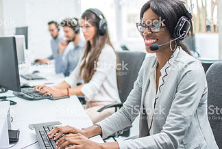 smiling-young-woman-with-headset-working