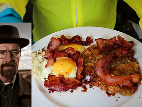 Walter White's Last Meal of Hash Browns, Bacon & Eggs