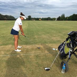 En el 13 Abierto Sudamericano Amateur entrenando a Victoria Bargo (Uruguay) En día de prácticas Mart