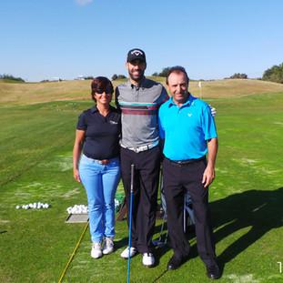 Con Alvaro Quirós y su coach, en Portugal 2014
