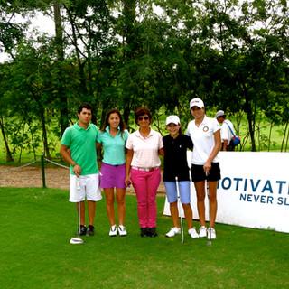 Con la colega Lorena Fortlage de Paraguay, capacitando a sus jugadores