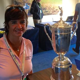 Con la copa del US Open / 2015