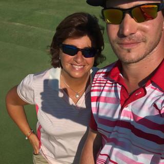 Con Leandro Marelli, jugador del PGA Latinoamerica 2017