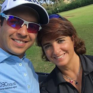 Con José Toledo, entrenando para volver al Web.com tour