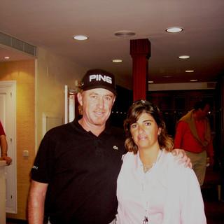Con Miguel Jimenez en el Open de Andalucia 2008