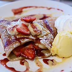 Strawberries & Banana Crepe