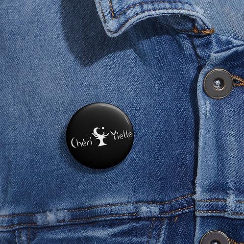 Black Chéri Button