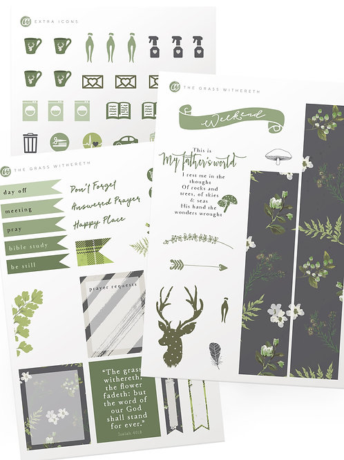The Grass Withereth -  Sticker Set