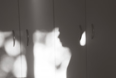 Waking up to twinkeling bokeh on my pantry doors and Noah casting a handsome shadow.
