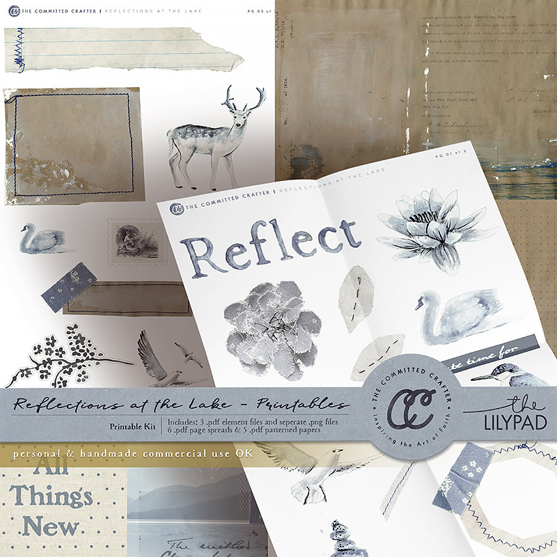 Reflections at the Lake - Printable Kit (Commercial Handcrafters License)