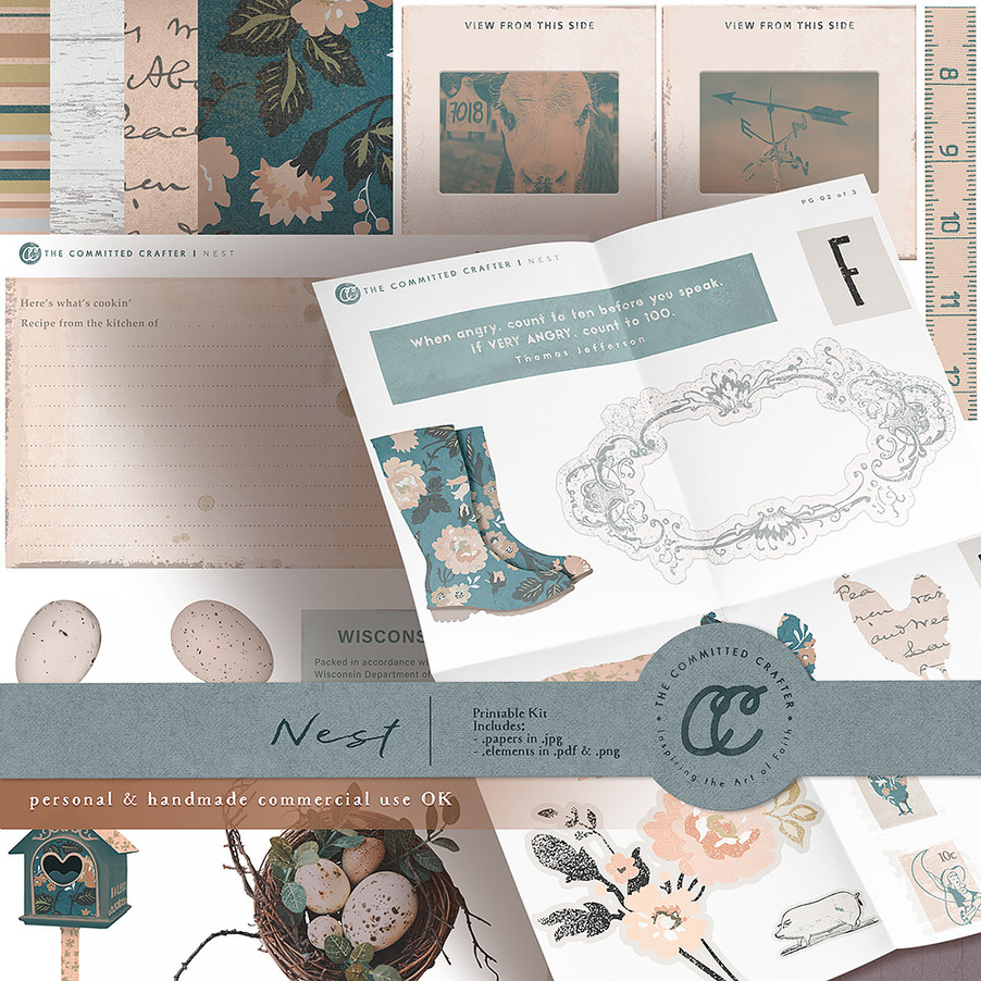 Nest - Printable Kit (Commercial Handcrafters License)