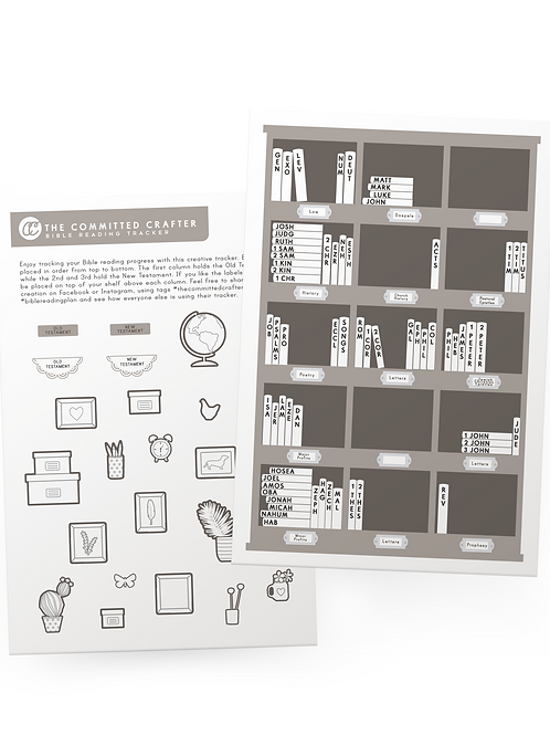 Bible Reading Tracker Sticker + Coloring Accessories