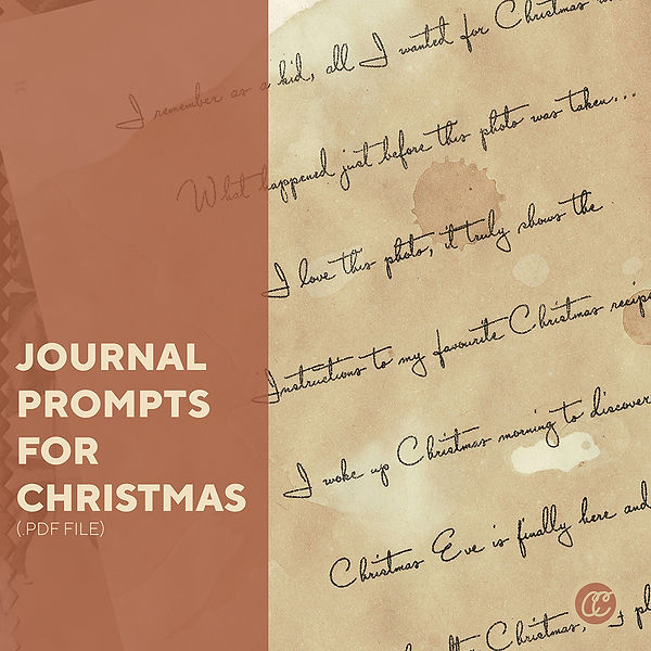 Journal Prompts for Christmas Jornal
