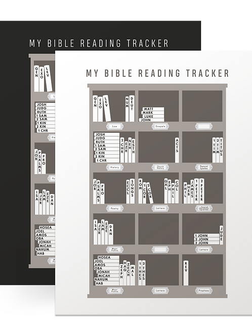 Bible Reading Poster Tracker