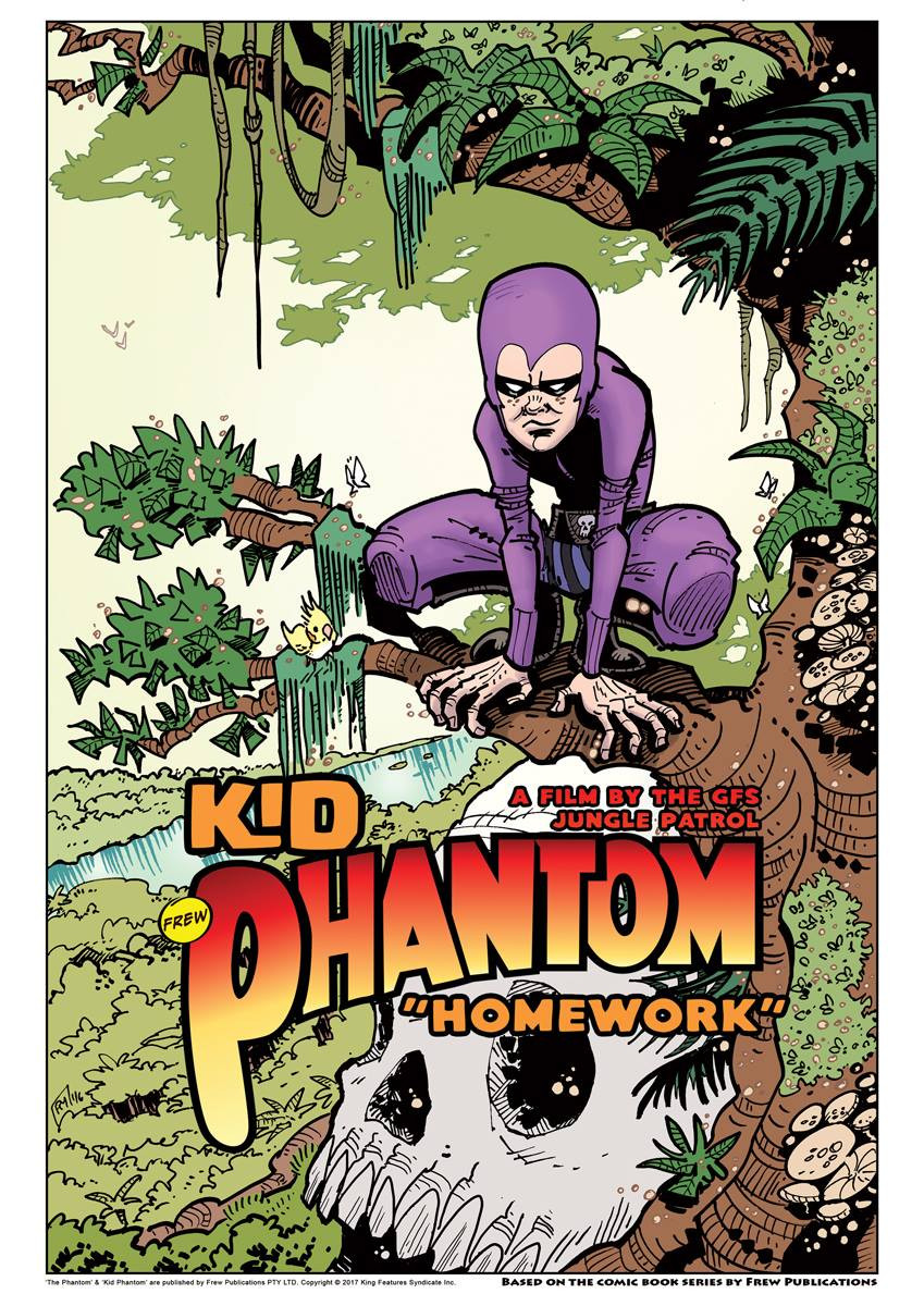 """Film poster for """"Kid Phantom: Homework"""""""