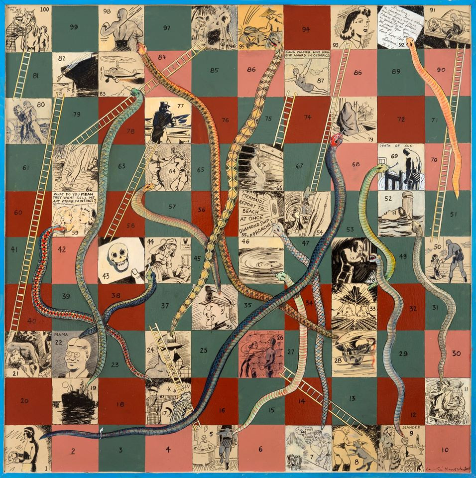 Phantom Snakes and Ladders game board