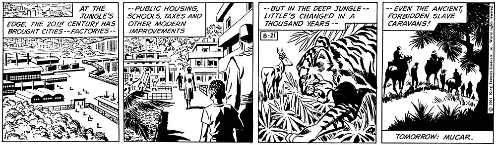 "Barry's first Daily strip ""The Slave Market of Mucar"" 21st August 1961"