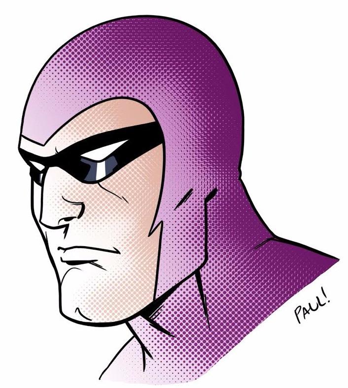 "A Paul Bulman ""Phantom"" doodle"