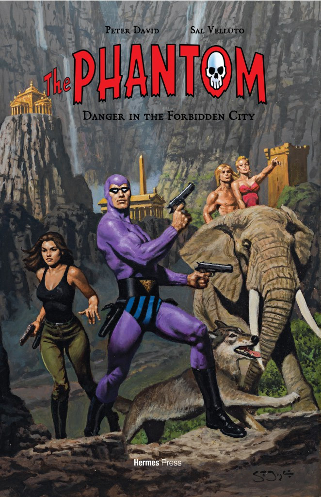 Phantom graphic novel: Danger in the Forbidden City (script by Peter David; interior art by Sal Velluto) with cover art by Sean Joyce